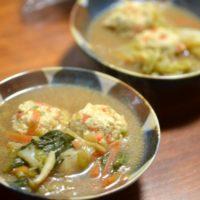 小倉優子のチーズ入りお野菜鶏肉団子鍋